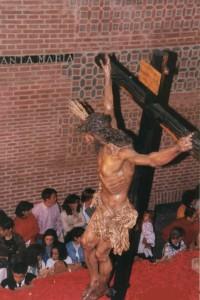 Primera salida del Stmo. Cristo. Año 1995
