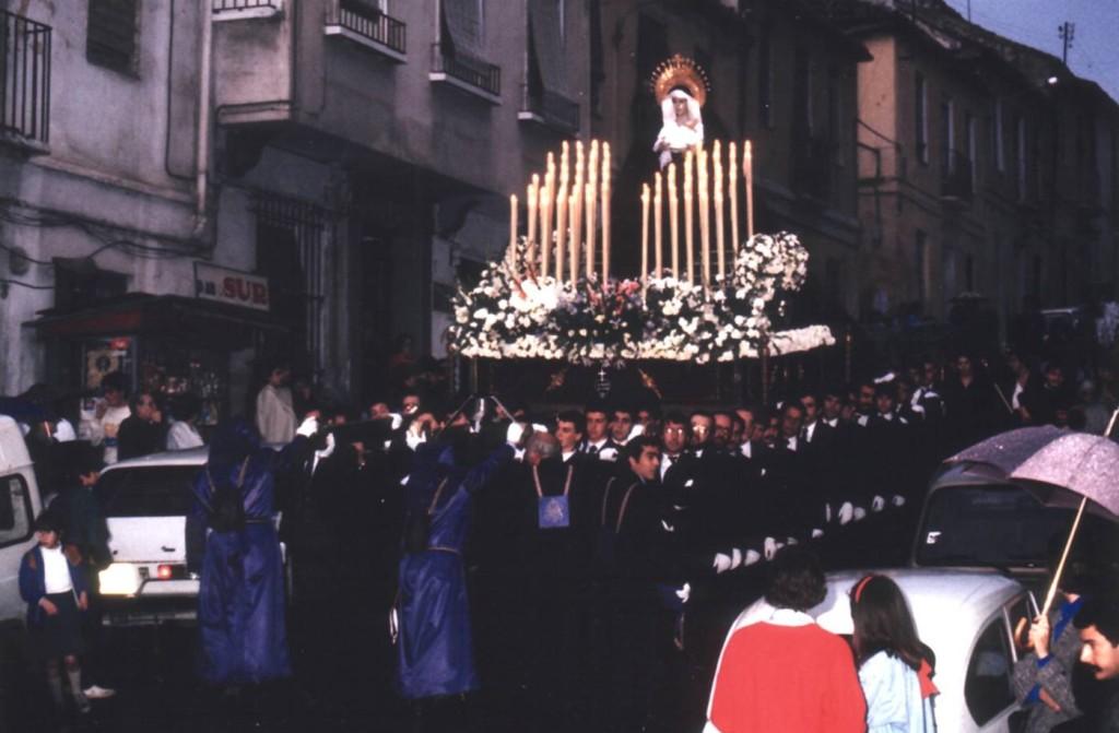 Primera salida procesional. Año 1986